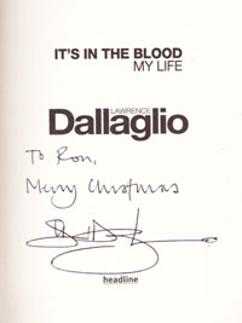 LAWRENCE-DALLAGLIO-memorabilia-signed-autogbiography-book-rugby-memorabilia-2007 world-cup-Wasps its in the blood autograph