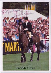 LUCINDA GREEN PRIOR PALMER signed three day event equestrian photo autograph sports memorabilia