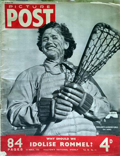 Lacrosse-memorabilia-Picture-Post-magazine-article-18th-March-1950-Invisible-Palefaces-cover-photo