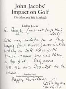 Laddie-Lucas-autograph-signed-golf-book-john-jacobs-impact-man-methods-percy-first-edition-1987
