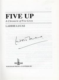 Laddie-Lucas-memorabilia-Laddie-Lucas-autograph-signed-golf-memorabilia-autobiography-Five-Up-Princes-Golf-Club-RAF-Spitfire-pilot-DSO-Battle-of-Britain-MP-Wee-Laddie-signature-200