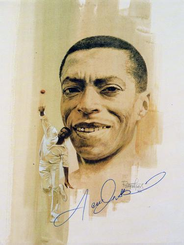 Lance-Gibbs-autograph-signed-West-Indies-cricket-memorabilia-cricketer-photo-poster-Warks-CCC-off-spinner-300-Test-wickets-lancelot