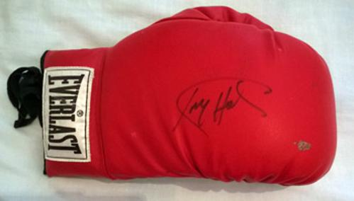Larry Holmes heavyweight champ signed Everlast boxing glove