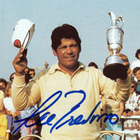 LEE TREVINO  signed British Open Champion picture.