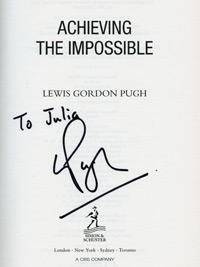 LEWIS GORDON PUGH (The 'Sir Edmund Hillary of Swimming') signed autobiography