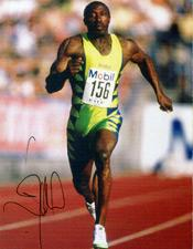 Linford Christie memorabilia athletics memorabilia Olympics memorabilia signed photo autograph track and field memorabilia