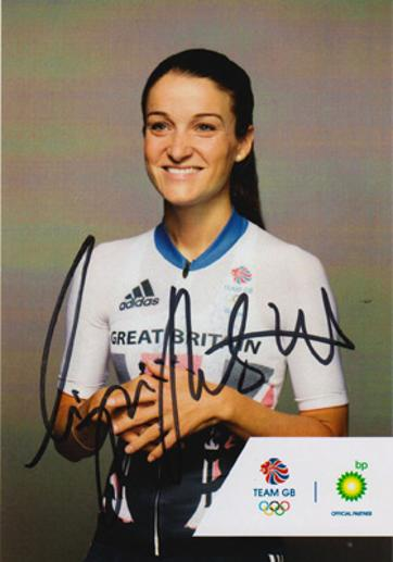 Lizzie Deignan autograph signed GB olympic cycling memorabilia