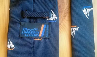 Lloyd-Werft-sailing-memorabilia-yachting-neck-tie-pure-silk-bremerhaven-germany-luxury-yachts-reine-seide-boat-builder-fashion-clothing