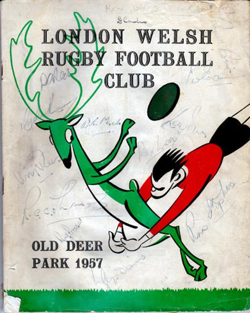 London-Welsh-rugby-memorabilia-signed-autographs-1957-Old-Deer-Park-programme-booklet-brochure-A-New-Era-LWRFU-Richmond-rugby-club-Wales-Exiles