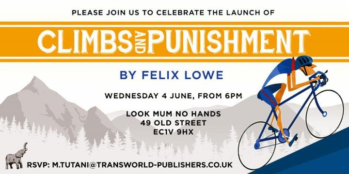 look Ma No Hands Cycling cafe book launch for Felix Lowe Climbs and Punishment