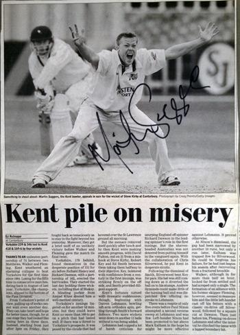 MARTIN-SAGGERS-memorabilia-Kent-cricket-memorabilia-signed-photo-autograph