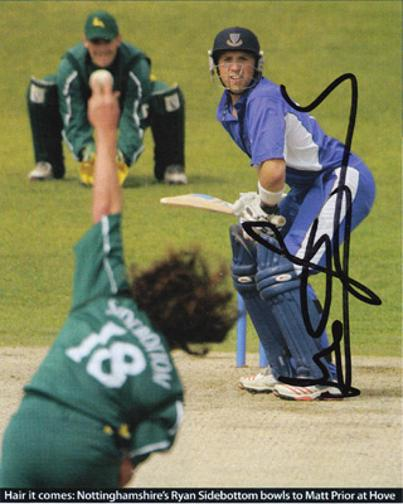 MATT-PRIOR-memorabilia-signed-Sussex-cricket-memorabilia-magazine-pic-autograph-Sharks-England-memorabilia-wicket-keeper-keeping-batting