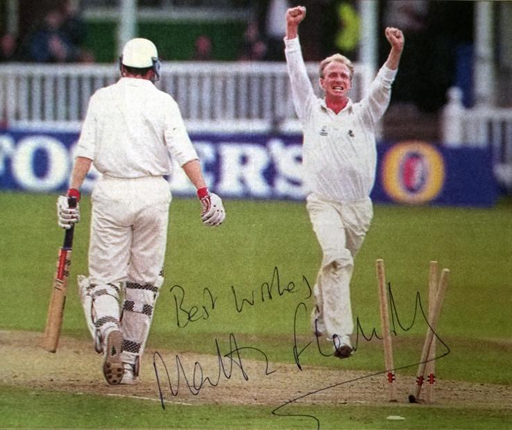 MATTHEW FLEMING memorabilia Kent cricket memorabilia autograph photo