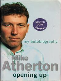 MICHAEL-ATHERTON-autograph-signed-Lanacashire-cricket-memorabilia-Lancs-CCC-England-Ashes-memorabilia-book-opening-up-my-autobiography--signature-athers-mike