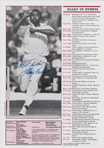 Malcolm-Marshall-autograph-signed-West-Indies-cricket-memorabilia-1987-Hampshire-CCC-benefit-brochure-testimonial-Hants-barbados-scotland