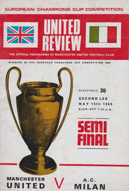 Man-Utd-football-memorabilia-Manchester-United-May-15th-1979--european-champions-cup-sem-final-official-souvenir-programme-v-AC-Milan-Old-Trafford-second-leg