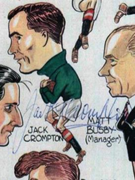 Manchester-United-Busby-Babes-signed-caricature-1950s-Matt-Busby-Bill-Foulkes-Man-Utd-Munich-Jack-Crompton