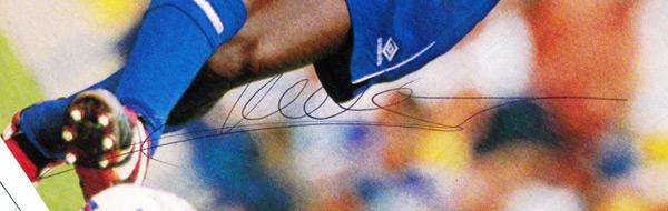 Marcel-Desailly-autograph-signed-Chelsea-FC-football-memorabilia-magazine-pic-France