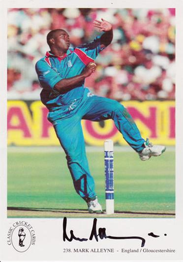 Mark-Alleyne-autograph-signed-Gloucestershire Gloucs-CCC-cricket memorabilia England-player card captain