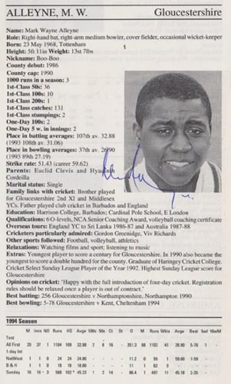 Mark-Alleyne-autograph-signed-gloucestershire-cricket-memorabilia-gloucs-ccc-captain-england-all-rounder-signature