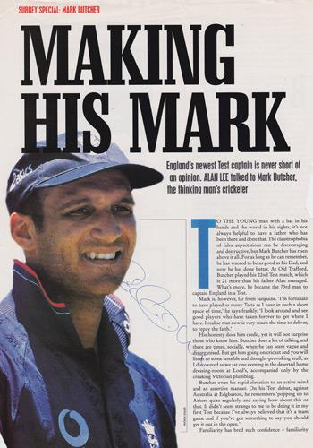 Mark-Butcher-autograph-signed-Surrey-CCC-Cricket-memorabilia-England-captain-signature-Oval-Special