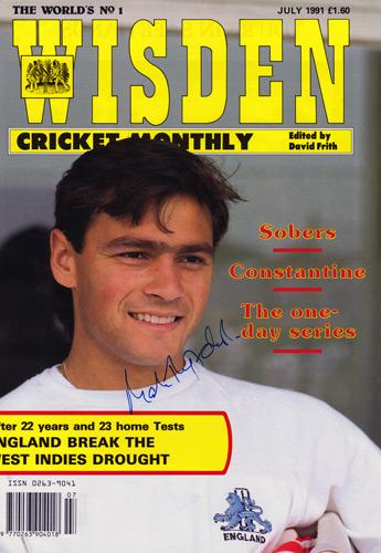 Mark-Ramprakash-autograph-signed-Middlesex-Cricket-memorabilia-ccc-England-test-match-batsman-Middx-Ramps-1991-wisden-magazine-cover-photo