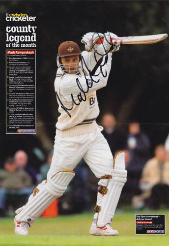 Mark-Ramprakash-autograph-signed-Surrey-CCC-Cricket-memorabilia-county-legend-Cricketer-mag-poster-England-test-344