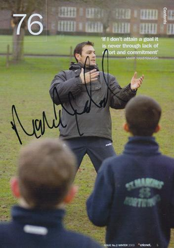 Mark-Ramprakash-autograph-signed-Surrey-Cricket-memorabilia-2003-wisden-magazine-article-lions-England-test-match-batsman