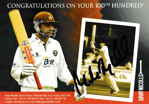 Mark-Ramprakash-autograph-signed-surrey-cricket-memorabilia-middx-ccc-100-hundreds-century-gray-nicolls-bat-tribute-england