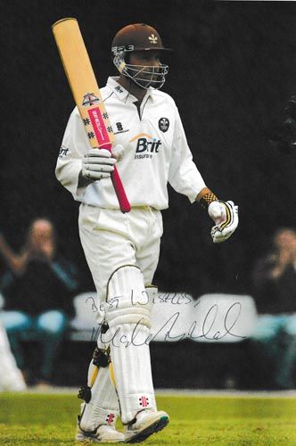 Mark-Ramprakash-autograph-signed-surrey-cricket-memorabilia-middx-ccc-100-hundreds-century-gray-nicolls-bat-tribute-robertsbridge