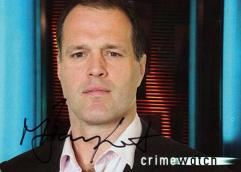 MARTIN BAYFIELD memorabilia signed BBC TV Crimewatch promo card