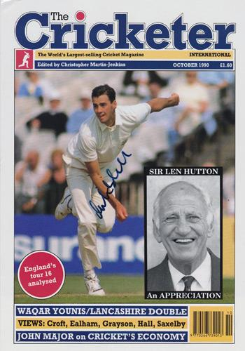 Martin-Bicknell-autograph-signed-Surrey-CCC-Cricket-memorabilia-England-test-match-The-Cricketer-magazine-cover-Lions-Brown-caps-Brit-Oval