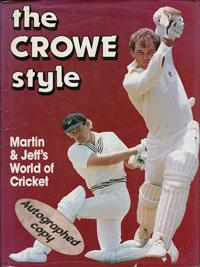 Martin-Crowe-New-Zealand-signed-copy-The-Crowe-Style-Jeff-cricket-book-autobiography-memorabilia