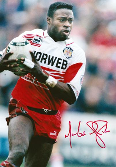 Martin-Offiah-Wigan-Warriors-RLFC-signed-rugby-league-photo-memorabilia-autograph-Chariots-of-Fire