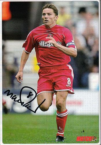 MATT HOLLAND autograph signed charlton athletic match mag pic cafc football memorabilia