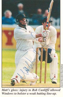 Matt-Windows-autograph-signed-Gloucestershire-Gloucs-CCC-cricket-memorabilia-magazine-picture-batting-opening-batsman-signature