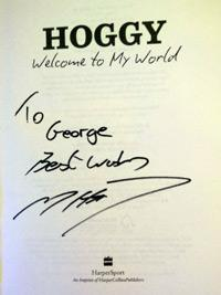 MATTHEW HOGGARD (Yorks, Leics & England) signed copy of