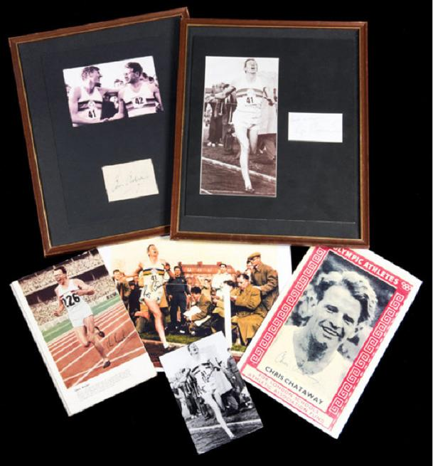 Bannister Chataway Brasher four minute mile athletics Graham Budd Auctions sports memorabilia