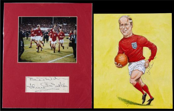 Bobby-Jackie-Charlton signed football 1966 world cup final Graham Budd Auctions sporting memorabilia autograph