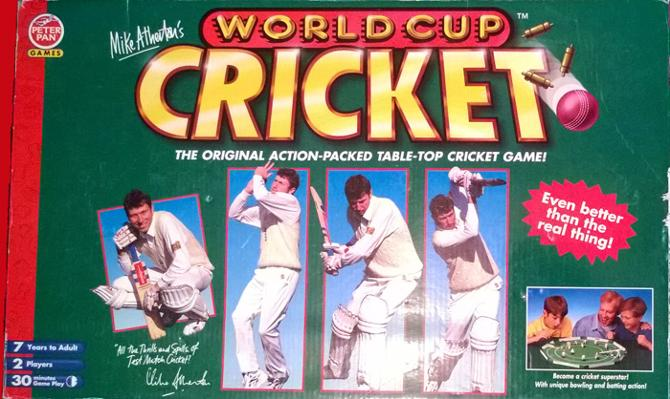 MIKE ATHERTON'S WORLD CUP CRICKET table top game from Peter Pan Games