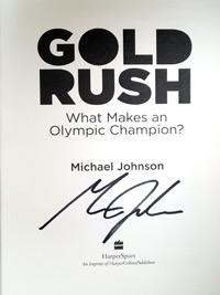 Michael-Johnson-autograph-signed-olympic-games-athletics-memorabilia-book-gold-rush-400-metres-200-olympic-champion-atlanta-2011-first-edition-signature