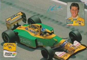 Michael-Schumacher-autograph-signed-formula-one-memorabilia-f1-benetton-racing-team-camel-sponsor-postcard