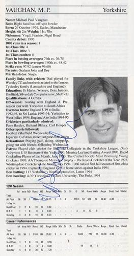 Michael-Vaughan-autograph-signed-yorkshire-cricket-memorabilia-signature-england-captain-batsman-1995-yorks-ccc-county-cricketers-whos-who-ashes-2005