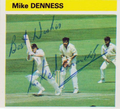 Mike-Denness-autograph-signed-Kent-CCC-cricket-memorabilia-england-test-captain-lucky-hootsman-spitfires-signature-player-card