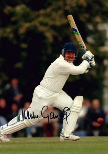 Mike Gatting-Middx CCC England captain signed colour photo autographed cricket memorabilia