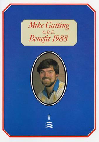 Mike-Gatting-autograph-signed-Middlesex-cricket-memorabilia-England-test-captain-county-benefit-brochure-1988-testimonial