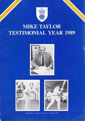Mike-Taylor-1989-benefit-year-brochure-testimonial-hampshire-cricket-memorabilia-hants-ccc