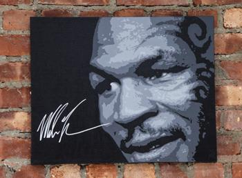 IRON MIKE TYSON Signed 16
