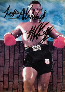 MIKE TYSON signed boxing pic.