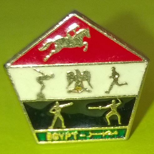 Modern-Pentahlon-memorabilia-egypt-five-sided-pentago-cuff-links-egyptian-jewellery-running-horse-riding-swimming-shooting-fencing-olympics-bling